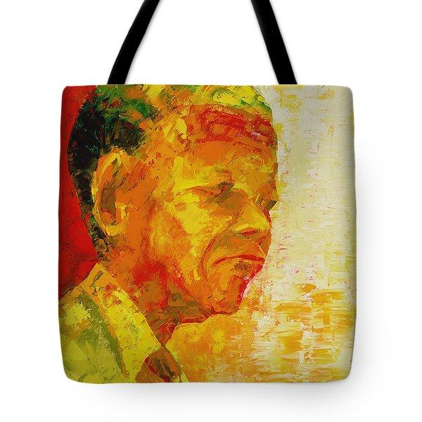 Mandela Tote Bag by Bayo Iribhogbe
