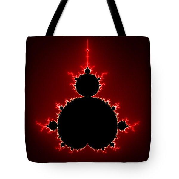 Mandelbrot Set Black And Red Square Format Tote Bag