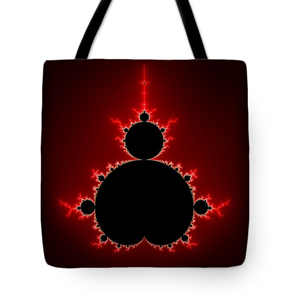 Mandelbrot Set Black And Red Square Format Tote Bag
