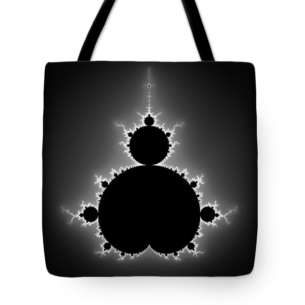 Mandelbrot Set Black And White Fractal Art Tote Bag