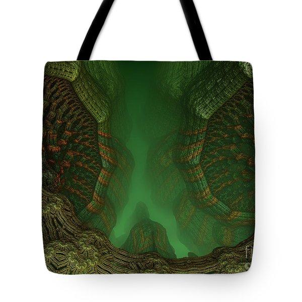 Mandelbulb Caverns Tote Bag by Melissa Messick