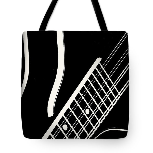 Mandolin Close Bw Tote Bag