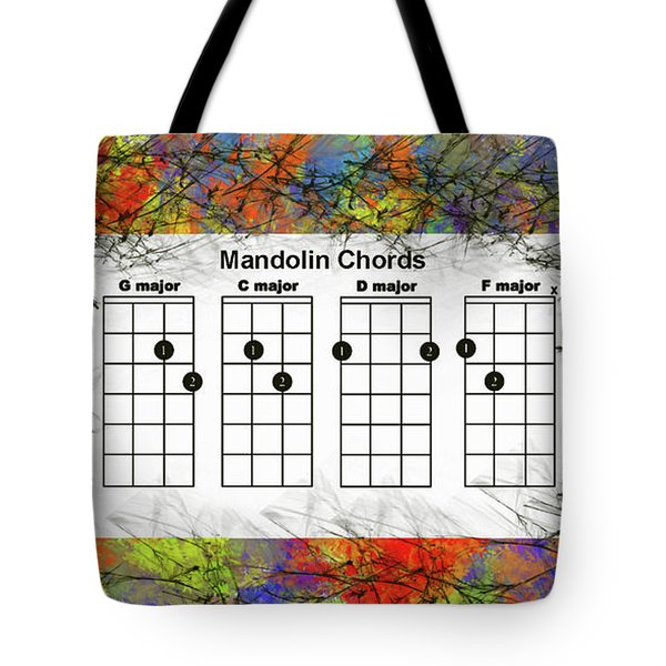 Mandolin- The Basic Chords Tote Bag by Trilby Cole