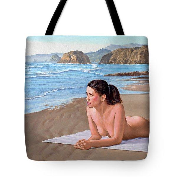Mandy At The Beach Tote Bag