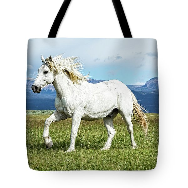 Mane And Feet Flying  Tote Bag