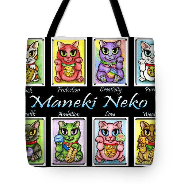Maneki Neko Luck Cats Tote Bag