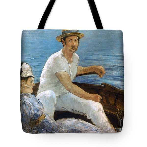 Manet: On A Boat, 1874 Tote Bag by Granger