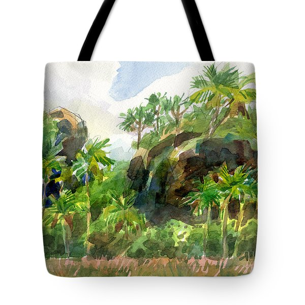 Mangaia Cliffs Tote Bag