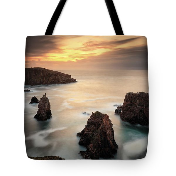 Tote Bag featuring the photograph Mangersta Sea Stacks by Grant Glendinning