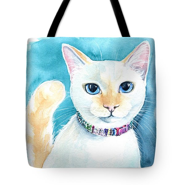 Mango - Flame Point Siamese Cat Painting Tote Bag