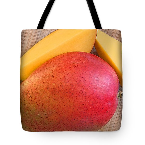 Tote Bag featuring the digital art Mango by Jana Russon