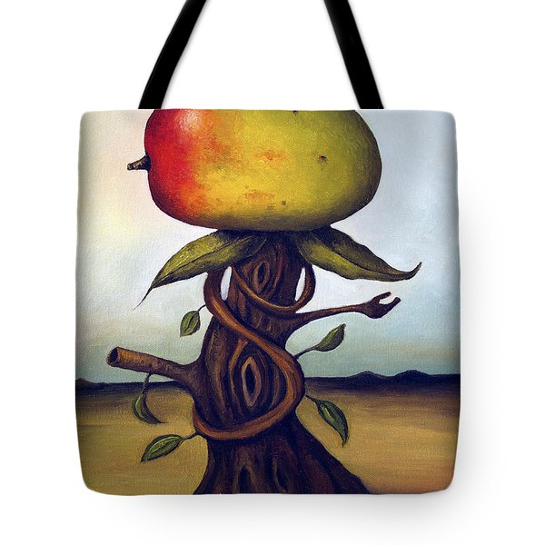 Mango Tree Aka Senor Mango Tote Bag by Leah Saulnier The Painting Maniac