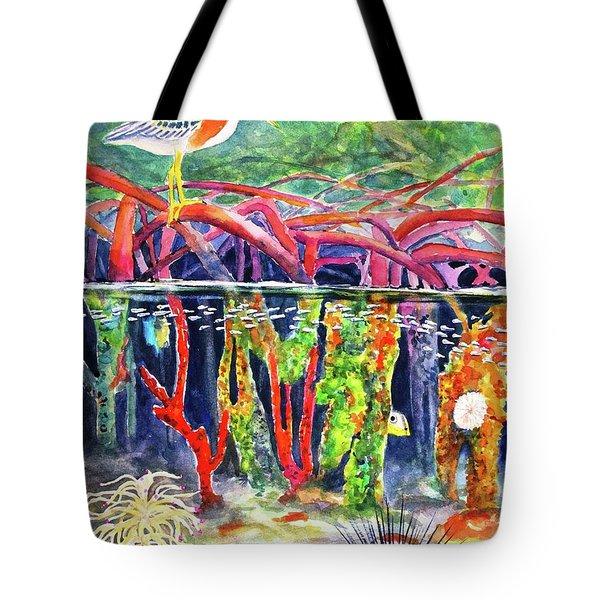 Mangrove Above And Below Tote Bag