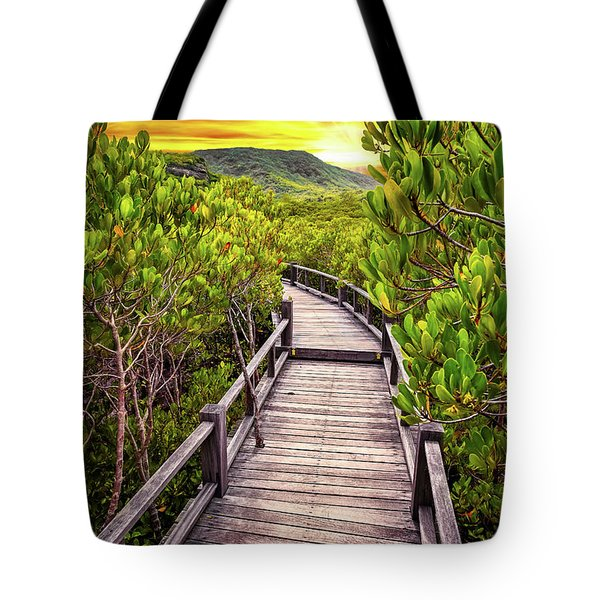 Mangrove Forest Sunset Tote Bag