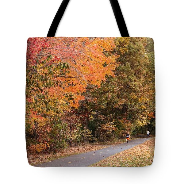 Manhan Rail Trail Fall Colors Tote Bag