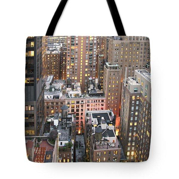 Manhattan At Dusk Tote Bag