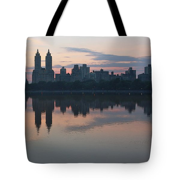 Manhattan At Night  Tote Bag by Yvonne Wright