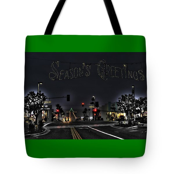 Manhattan Beach Christmas Tote Bag