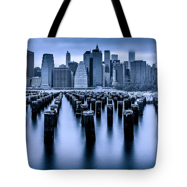 Tote Bag featuring the photograph Manhattan Blues by Chris Lord