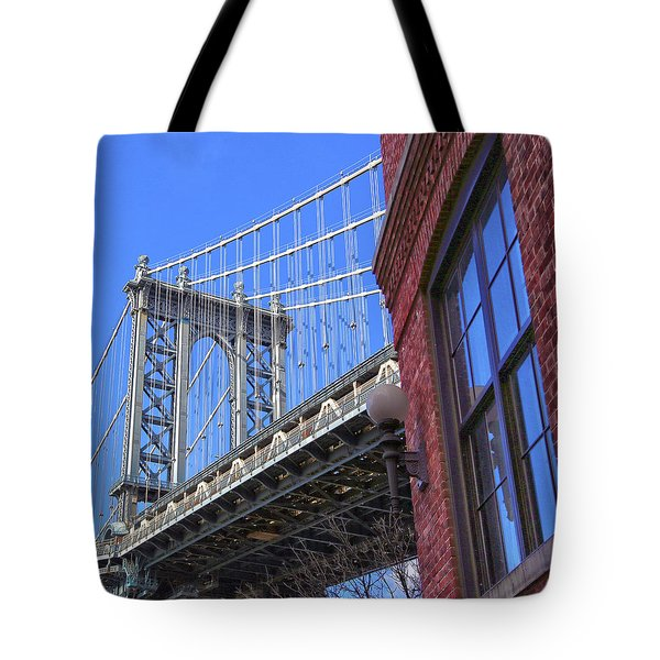 Tote Bag featuring the photograph Manhattan Bridge by Mitch Cat