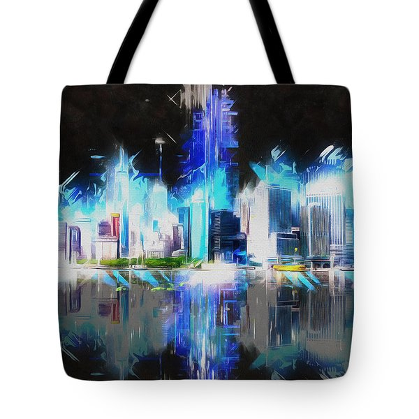 Manhattan Downtown Lights Tote Bag
