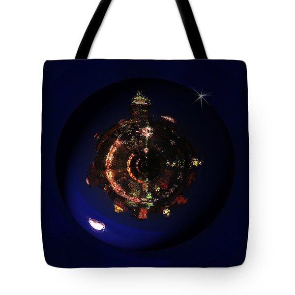 Manhattan Island Moonlight Tote Bag