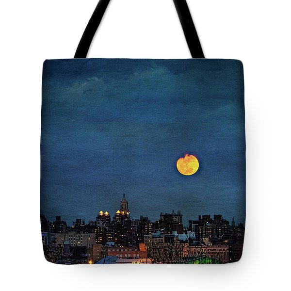 Manhattan Moonrise Tote Bag by Chris Lord