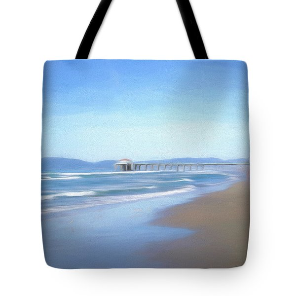 Tote Bag featuring the photograph Manhattan Pier Art by Michael Hope