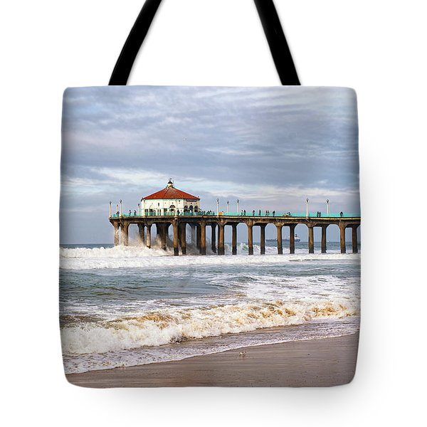 Manhattan Pier With Two Tankers Tote Bag