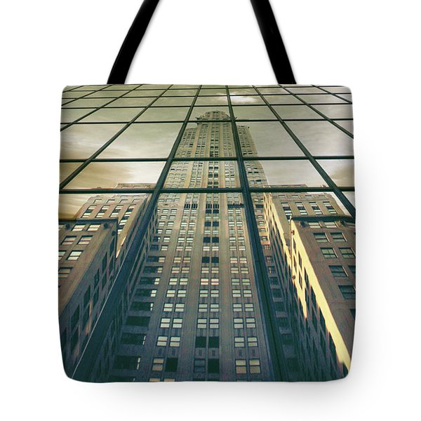 Tote Bag featuring the photograph Manhattan Reflected by Jessica Jenney