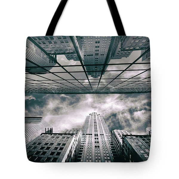 Tote Bag featuring the photograph Manhattan Reflections by Jessica Jenney