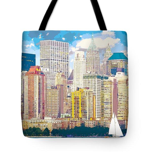 Manhattan Skyline New York City Tote Bag