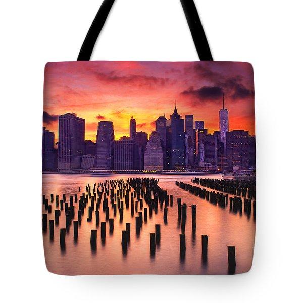 Manhattan Sunset Tote Bag
