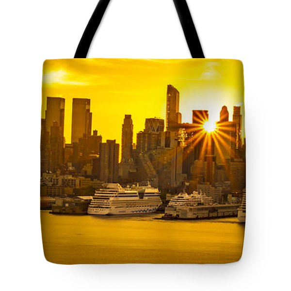 Manhattan's Ports At Sunrise Tote Bag