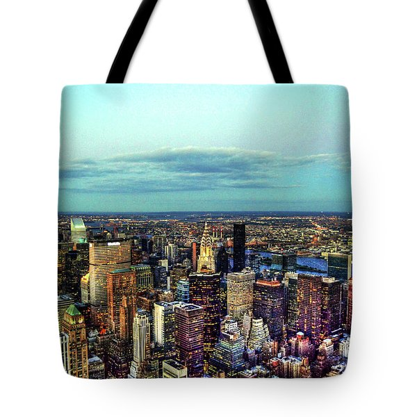 Manhattan's Upper East Side Tote Bag by Randy Aveille