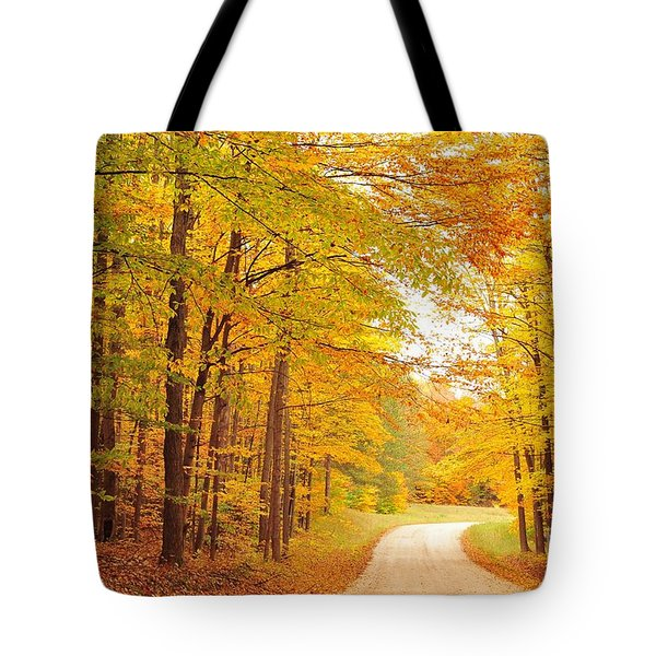 Manisee National Forest In Autumn Tote Bag