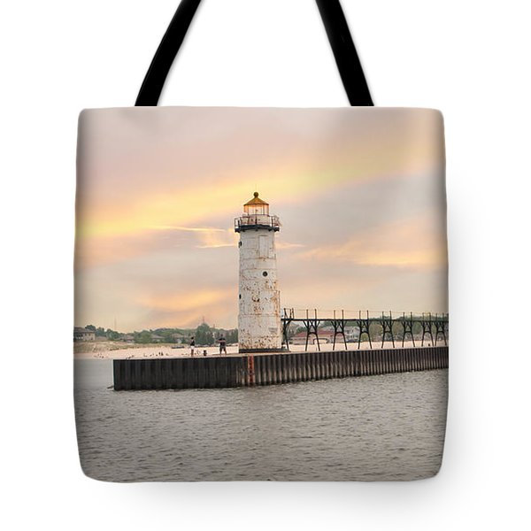 Manistee North Pierhead Lighthouse Tote Bag