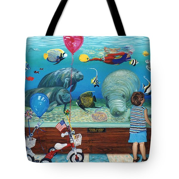 Manitee Aquarium With My Twins Tote Bag