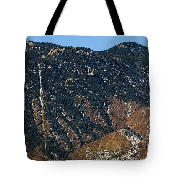 Manitou Incline Photographed From Red Rock Canyon Tote Bag