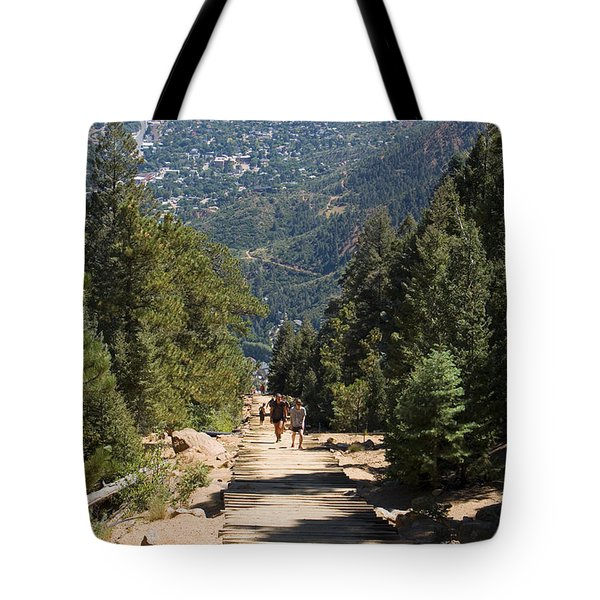 Manitou Springs Pikes Peak Incline Tote Bag