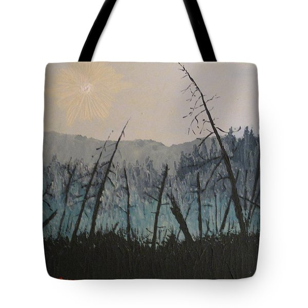Tote Bag featuring the painting Manitoulin Beaver Meadow by Ian  MacDonald