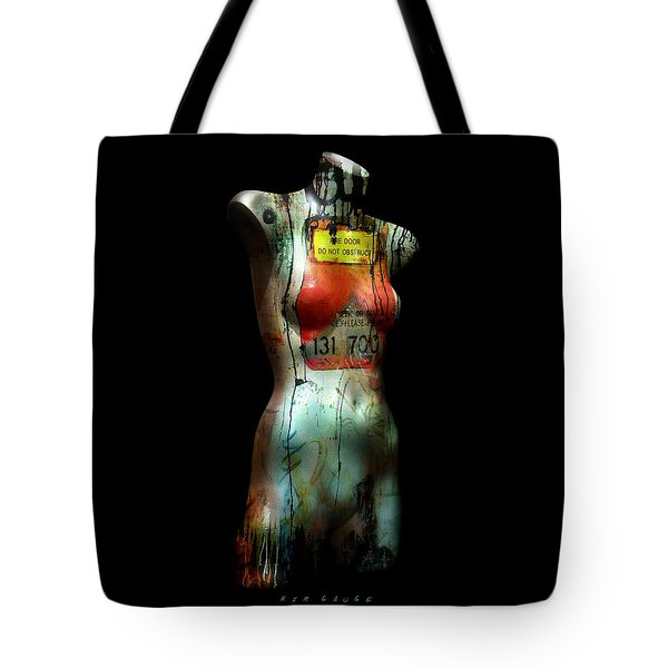Mannequin Graffiti Tote Bag by Kim Gauge
