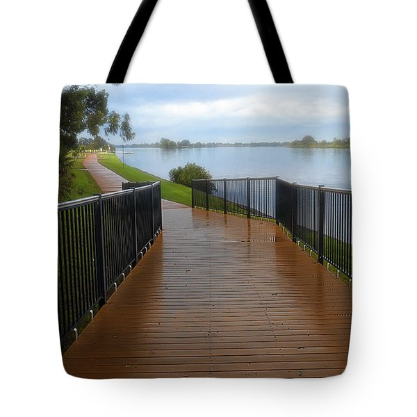 Tote Bag featuring the photograph Manning River Walk Way 01 by Kevin Chippindall