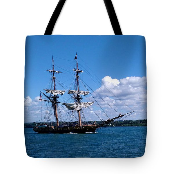Manning The Sails Tote Bag