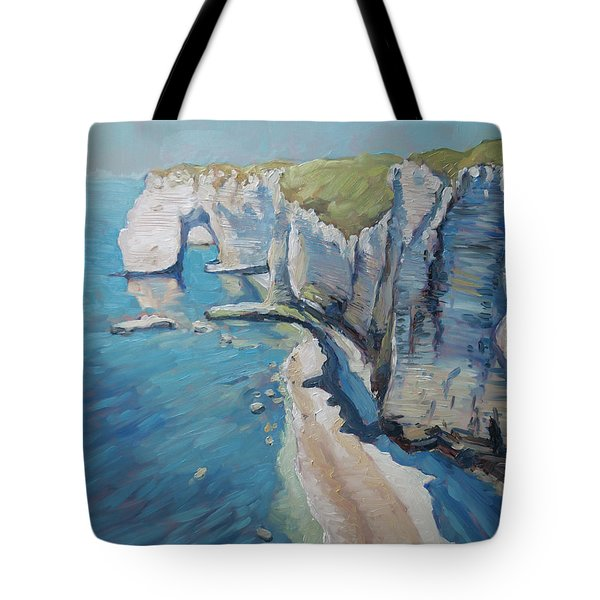 Manneport, The Cliffs At Etretat Tote Bag