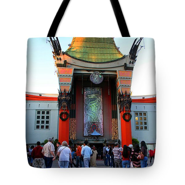 Mann's Chinese Theatre Hollywood California Tote Bag by Wernher Krutein