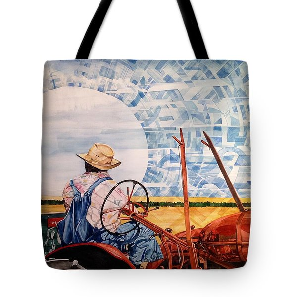 Manny During Wheat Harvest Tote Bag by Lance Wurst