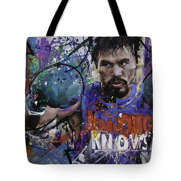 Manny Pacquiao Tote Bag by Richard Day