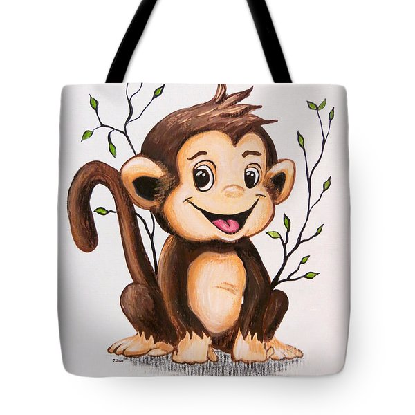 Manny The Monkey Tote Bag