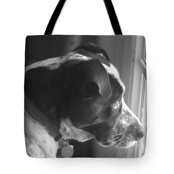 Tote Bag featuring the photograph Mans Best Friend I by Suzanne Powers